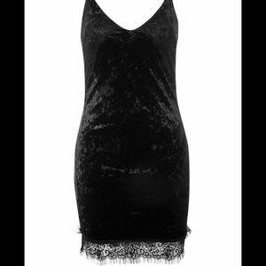 Topshop body con black dress